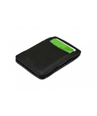 HUNTERSON LEATHER RFID MAGIC WALLET CARBON