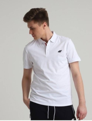 4F MEN CLOTHING POLO T-SHIRT NOSH4-TSM007-10S