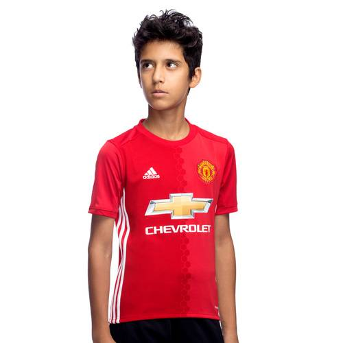 ADIDAS BOYS MANCHESTER UNITED FC HOME REPLICA JERSEY TEE AI6716