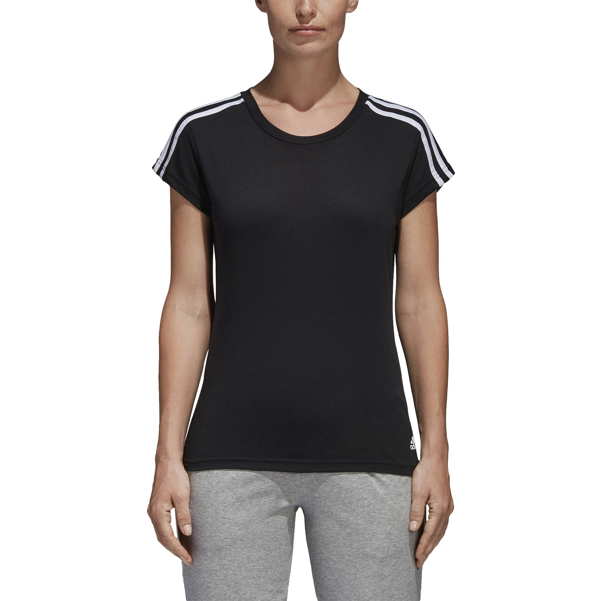 ADIDAS WOMEN ATHLETICS ESSENTIALS 3-STRIPES SLIM TEE S97183  1fe6ddfa4035