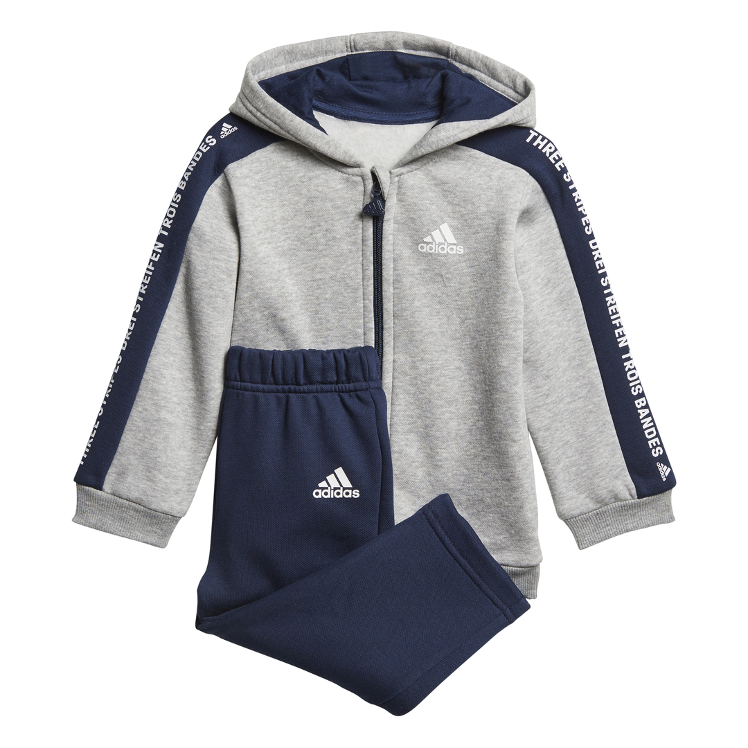 ADIDAS INFANTS BOYS LINEAR FULL ZIP HOODED JOGGER SET DN8419  91406388d0