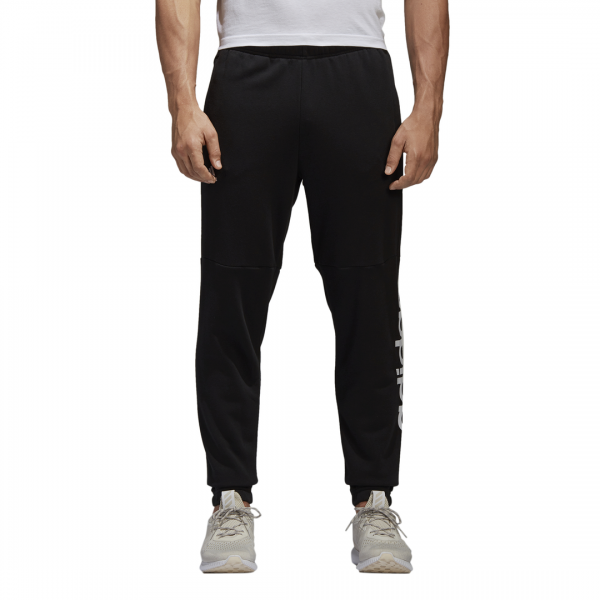 ADIDAS MEN CLOTHING ESSENTIALS LINEAR TAPERED FRENCH TERRY PANTS BQ9090
