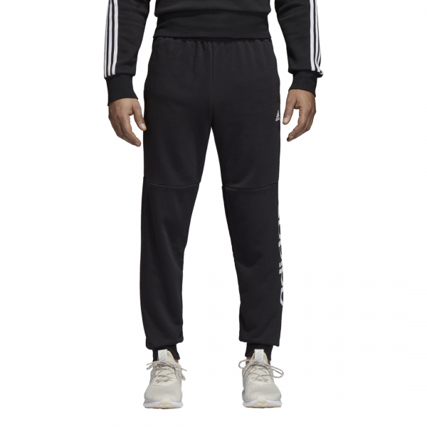 ADIDAS MEN CLOTHING ESSENTIALS LINEAR TAPERED FLEECE PANTS CF1343