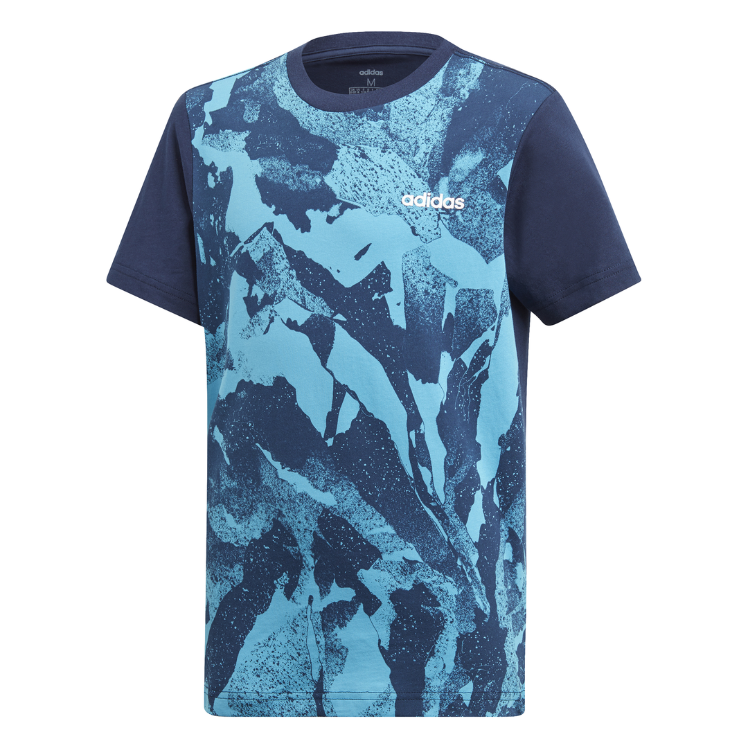 ADIDAS KIDS BOYS ESSENTIALS ALL OVER PRINT TEE DV1764