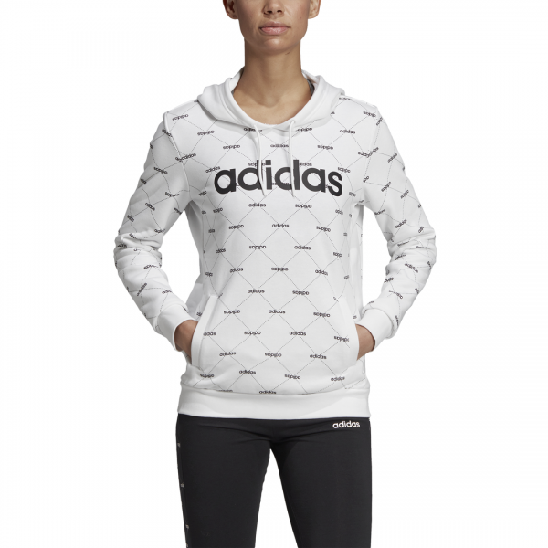 ADIDAS WOMEN CLOTHING LINEAR GRAPHIC HOODIE EI6248