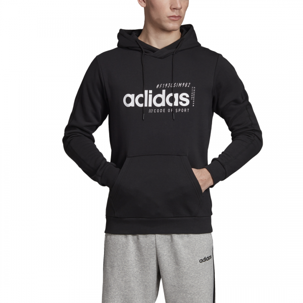 ADIDAS MEN CLOTHING BRILLIANT BASICS HOODIE EI4622