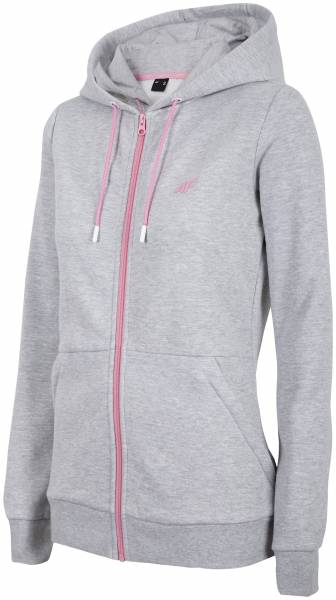 4F WOMEN CLOTHING ZIP HOODIE BLD003 GREY