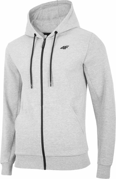 4F MEN CLOTHING ZIP HOODIE BLM074 GREY