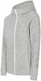 4F WOMEN CLOTHING FLEECE ZIP HOODIE PLD002 GREY