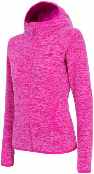 4F WOMEN CLOTHING FLEECE ZIP HOODIE PLD002 PINK