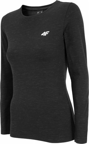 4F WOMEN CLOTHING LONGSLEEVE TEE TSDL001 BLACK
